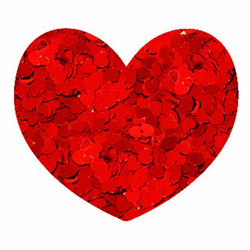 Aladine Izink Glitter -koristeet, Red Hearts