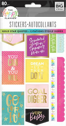 Mambi Happy Planner tarrat Gold Star Quotes