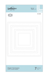 Spellbinders stanssisetti Elegant Twist Squares