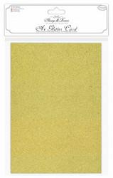 Craft Consortium Glitter -kartonki, Kulta, A4