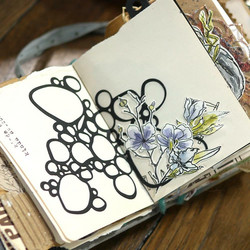 Elizabeth Craft Designs Art Journal stanssi Bubbles