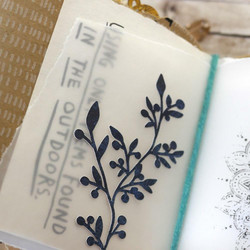 Elizabeth Craft Designs Art Journal stanssi Blooming Branches