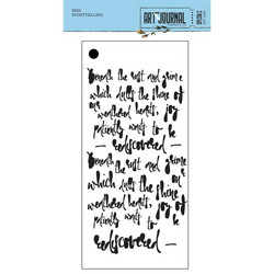 Elizabeth Craft Designs Art Journal sapluuna Storytelling