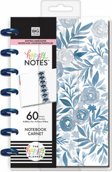 Mambi Mini Happy Notes -muistikirja, Blue Florals