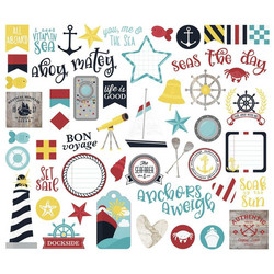 Simple Stories Cruisin' Bits & Pieces Die-Cuts, leikekuvat
