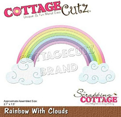 CottageCutz stanssi Rainbow With Clouds