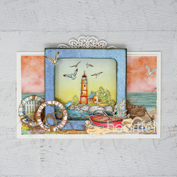 Heartfelt Creations Sea Breeze Harbor -stanssisetti