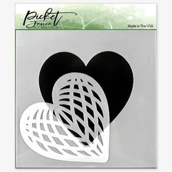 Picket Fence sapluuna Spliced Heart