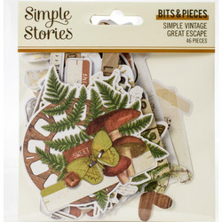 Simple Stories Vintage Great Escape Bits Die-Cuts, leikekuvat
