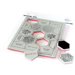Pinkfresh Studio leimasinsetti Pop-Out Hexagons