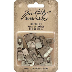 Tim Holtz Idea-Ology Metal Index Clips -clipsit, 24 kpl