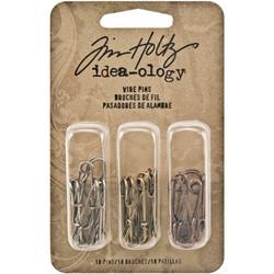 Tim Holtz Idea-Ology Metal Wire Pins, 18 kpl