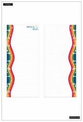 Mambi Happy Planner Classic Half Sheet paperipakkaus, Rainbow Vibes