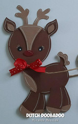 Dutch DooBaDoo Card Art Reindeer -sapluuna