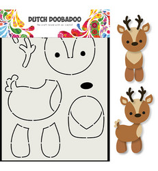 Dutch DooBaDoo Card Art Reindeer -sapluuna