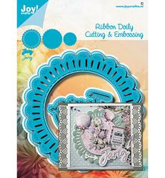 Joy! crafts Ribbon Doily -stanssisetti
