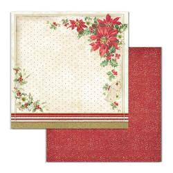 Stamperia Classic Christmas skräppipaperi Poinsettia