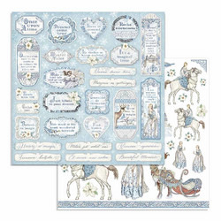 Stamperia Winter Tales skräppipaperi Tags & Frames