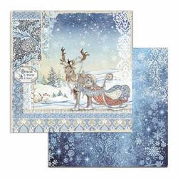 Stamperia Winter Tales skräppipaperi Deer