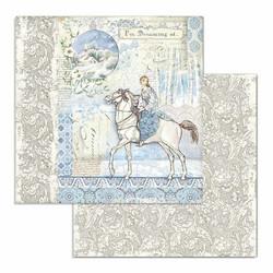Stamperia Winter Tales skräppipaperi Horse