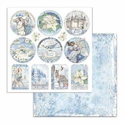 Stamperia Winter Tales skräppipaperi Frames