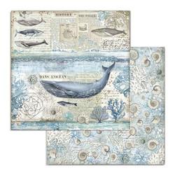 Stamperia Arctic Antarctic skräppipaperi Whale