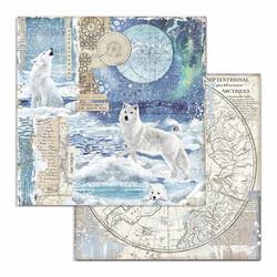 Stamperia Arctic Antarctic skräppipaperi Wolf