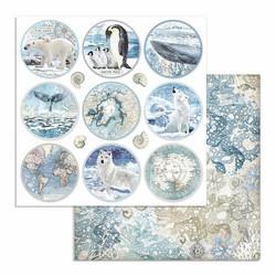 Stamperia Arctic Antarctic skräppipaperi Rounds