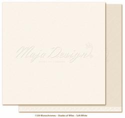Maja Design Monochromes - Shades of Miles  skräppipaperi Soft White