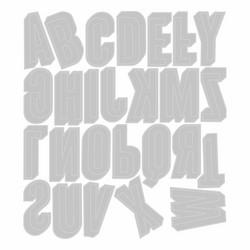 Sizzix Tim Holtz Thinlits stanssisetti Alphanumeric Shadow, Upper