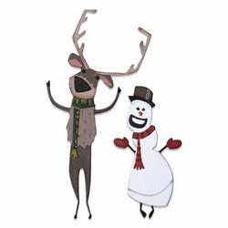 Sizzix Tim Holtz Thinlits stanssisetti Papercut Christmas #2, Colorize