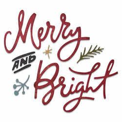 Sizzix Tim Holtz Thinlits stanssisetti Merry and Bright