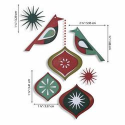 Sizzix Tim Holtz Thinlits stanssisetti Ornamental Birds