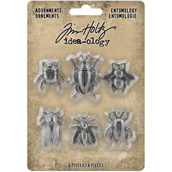 Tim Holtz Idea-Ology Metal Adornments -koristeet, Entomology