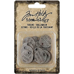 Tim Holtz Idea-Ology Metal Quote Tokens -koristeet,Halloween