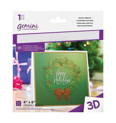 Gemini 3D kohokuviointikansio Rustic Wreath