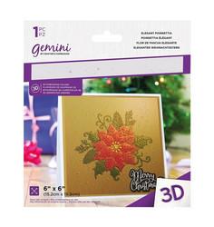 Gemini 3D kohokuviointikansio Elegant Poinsettia