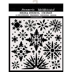 Stamperia sapluuna Snowflakes