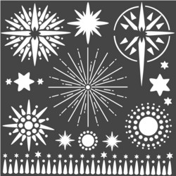 Stamperia sapluuna Stars