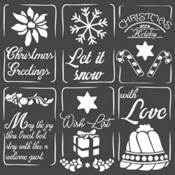 Stamperia sapluuna Christmas Tags