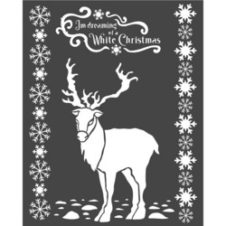 Stamperia Arctic Antarctic sapluuna White Christmas Deer