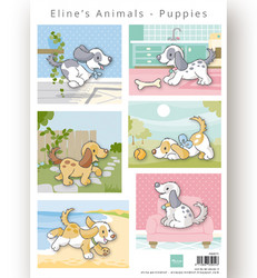 Marianne Design korttikuvat Eline's Animal Puppies