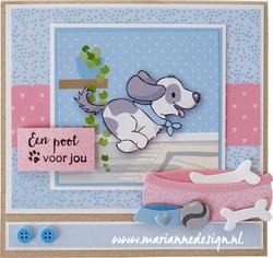 Marianne Design korttikuvat Eline's Animal Puppies
