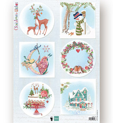 Marianne Design korttikuvat Christmas Wishes Deer