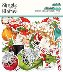 Simple Stories Simple Vintage North Pole Bits Die-Cuts, leikekuvat