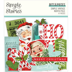 Simple Stories Simple Vintage North Pole Bits & Pieces Die-Cuts, leikekuvat