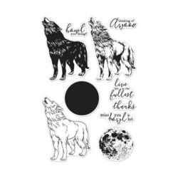 Hero Arts leimasinsetti Howling Wolf