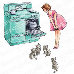Stamping Bella Edgar And Molly, Vintage Here Kitty Set -leimasin