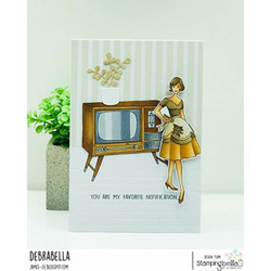 Stamping Bella Edgar And Molly, Vintage Tv Set -leimasinsetti