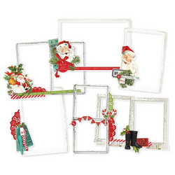 Simple Stories Simple Vintage North Pole Chipboard Frames -kehykset